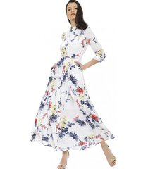 vestido savannah maxi floral blanco banana republic