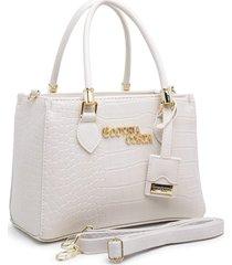 bolsa transversal gouveia costa luxo croco branco