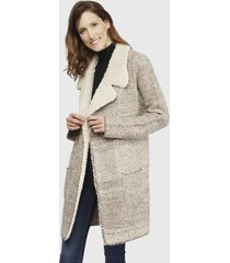 abrigo wados marrón - calce regular