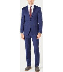 tommy hilfiger men's modern-fit th flex stretch wool suit