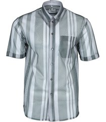 grey mesh button-down shirt