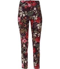 pantalón floral color vino, talla 10