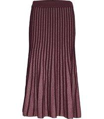 vivara knit hw midi skirt knälång kjol lila second female