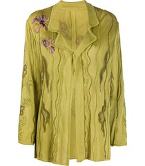 a.n.g.e.l.o. vintage cult 1990s floral embroidery relaxed-fit jacket -