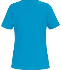shirt in a-lijn met korte mouwen van anna aura blauw