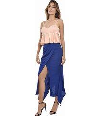 falda primia aurora azul