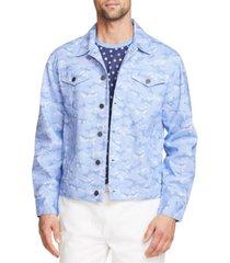 tallia men's slim fit cotton stretch trucker jacket