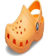 crocs crocs classic clog laranja.