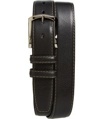 men's big & tall torino belts glazed leather belt, size 46 - black