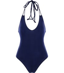 halter backless one piece swimwear