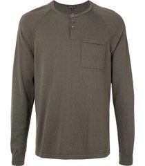 james perse raglan sleeve cashmere sweater - green