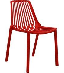 conjunto 06 cadeiras morgana vermelho telha rivatti