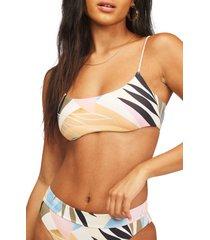 women's billabong last rays swim top, size xx-large - white