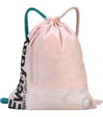 bolso everyday cinch bag ii invisible pink nixon