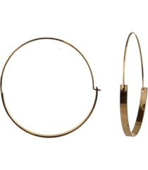 """style & co gold-tone large double-width hoop earrings, 2.37"""", created for macy's"""