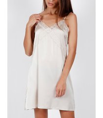 pyjama's / nachthemden admas babydoll lisa romantic ivoor