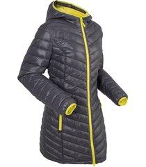 giacca lunga trapuntata ultra leggera con sacchetto (grigio) - bpc bonprix collection