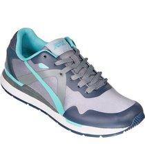 zapatos jogger aeroflex gris verde md9029