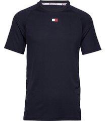 training mesh top t-shirts short-sleeved blå tommy sport
