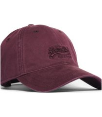 superdry label twill cap