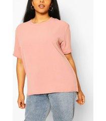 plus linen look oversized t-shirt, blush