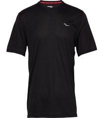 stopwatch short sleeve t-shirts short-sleeved svart saucony