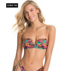 traje de baño top multicolor maaji swimwear dua fiesta flicker