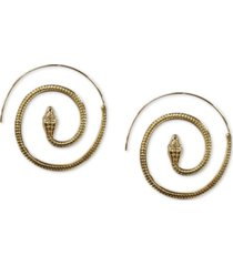 "thalia sodi gold-tone medium pave snake spiral hoop earrings, 1.85"", created for macy's"