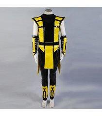 mortal kombat ninja scorpion costume scorpion cosplay outfit halloween custom