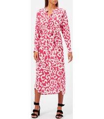 isabel marant women's calypso printed silk dress - pink drop - fr 40/uk 12 - pink