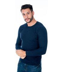suéter tejido azul para hombre