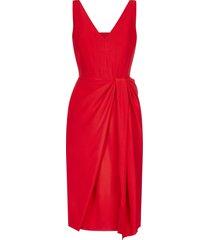 alexander mcqueen viscose-blend drape-detail dress