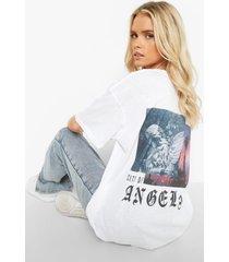city of angels t-shirt met rugopdruk, white