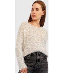 sweater nrg peludito crudo - calce regular