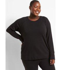 lane bryant women's livi cozysoft sweatshirt 22/24 black