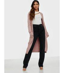 vila viril long l/s knit cardigan - noo cardigans ljus rosa