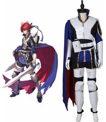 fire emblem roy male costume roy cosplay outfit men halloween carnival uniform