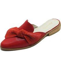 babucha nudo roja amano shoes