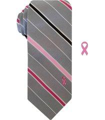 susan g komen men's slim stripe tie with lapel pin