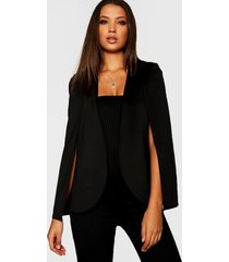 tall cape blazer, black