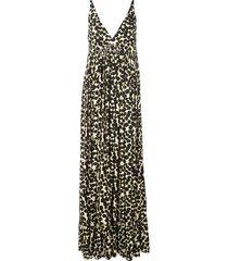 painted dot maxi dress