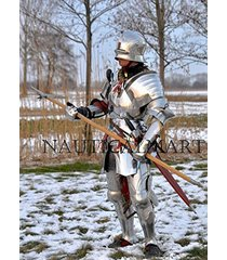 medieval larp knight full suit of armor collectible armour costume