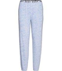 dkny casual fridays sleep jogger pyjamasbyxor mjukisbyxor blå dkny homewear