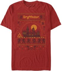 fifth sun men's gryffindor sweater short sleeve crew t-shirt