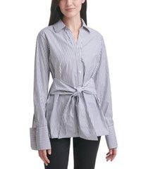 calvin klein jeans oversized tie-waist shirt