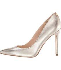 zapatos de tacón para mujer crew guess-dorado
