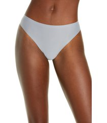 women's chantelle lingerie soft stretch thong, size one size - grey