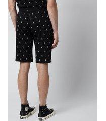 polo ralph lauren men's liquid cotton printed slim shorts - polo black - xl