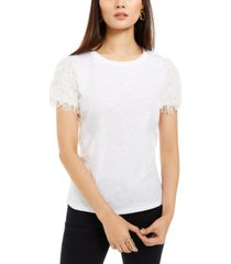 inc feather-sleeve t-shirt, created for macy's