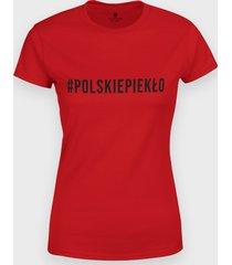 koszulka #polskiepiekło czarny
